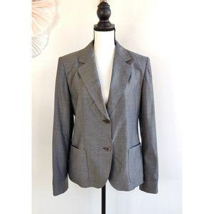 MaxMara Gray Stitched Blazer/Jacket